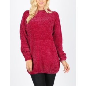 Velvet Yarn Sweater Tunic